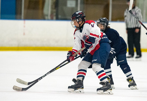 07/24/19 Wesley Bunnell | Staff The CT Capitals defeated Whitie Bensen Selects 4-2 in 14U Nutmeg Games hockey at the Newington Arena. Lucas Gorcenski (11).