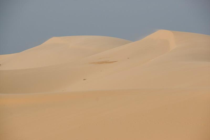 Empty and clear white sand dunes - Mui Ne, Vietnam