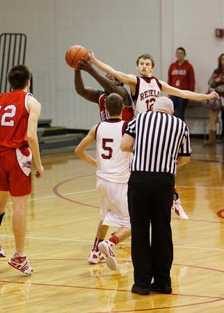 SNHS Boys Basketball vs TC - Homecoming - Mini Cheer 2012