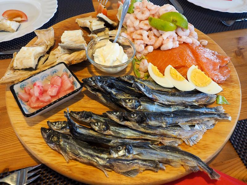 Traditional Greenlandic food in Oqaatsut