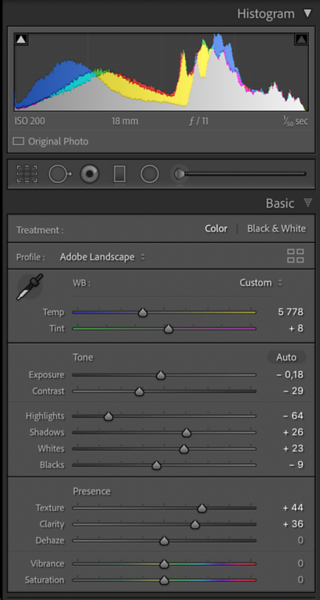 Clarity Settings in the Basic Panel