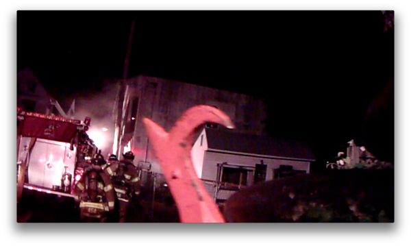 Schuylkill County - Frackville Borough - Dwelling Fire - Helmet Cam Shots - 6/12/2012
