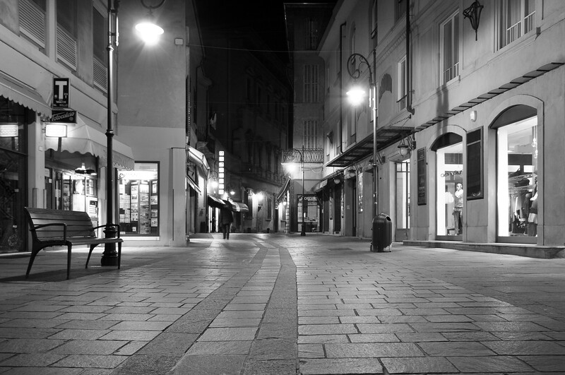 Via Crispi - Reggio Emilia, Italy - November 12, 2009