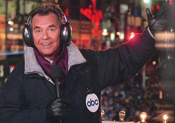Description of . ABC file photo, New Year\'s master of ceremonies Dick Clark.