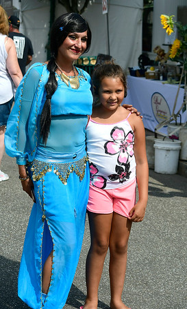 7/28/2018 Mike Orazzi | Staff Lilbit of Color's Elizabeth Sanchez and Ke'Anna Bozeman,8, during the 14th annual Italian Festival held of Lower Center Street in Southington Saturday.
