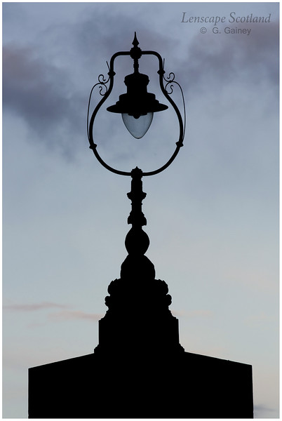 Lamp silhouette, Tower Place, Leith