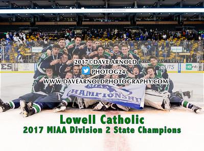 3/19/2017 - Boys Varsity Hockey - MIAA D2 State Final - Lowell Catholic vs Scituate