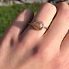 1.86ct Rustic Rose Cut Diamond Bezel Ring 7