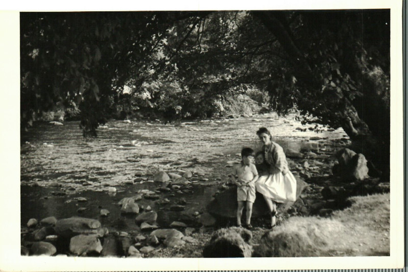 Sheila with Paul and Jean on holiday in Wales