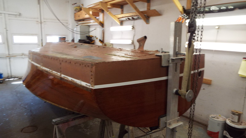 Rear starboard view up side down.