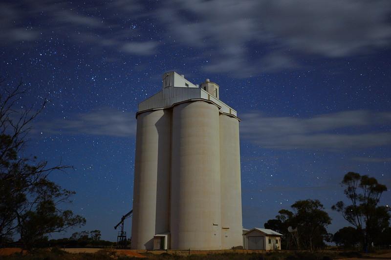 Taldra silo by starlight