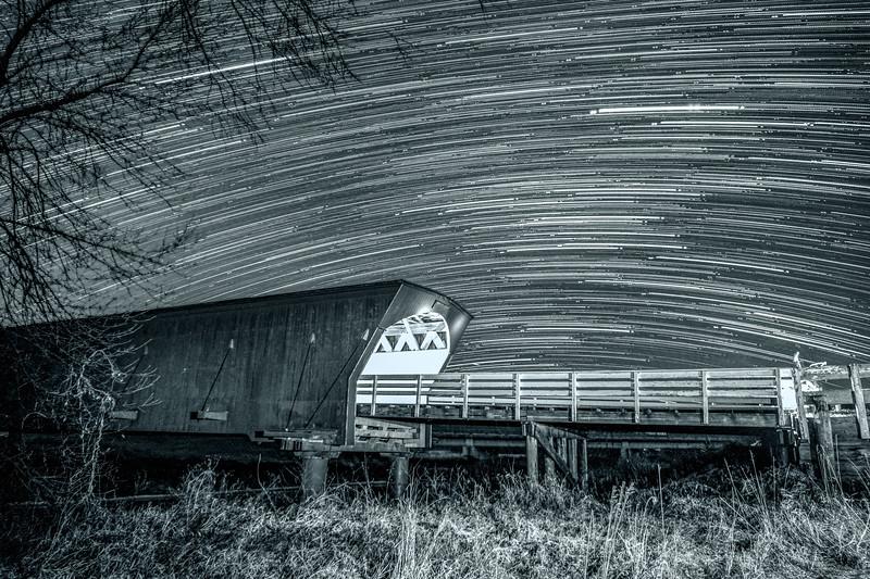 Star Trails Over Hogback Bridge