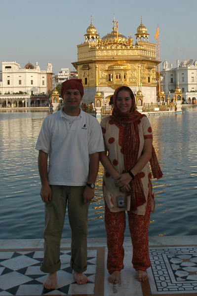 Amritsar: Jon Deutsch & Cheryl Deutsch at the Golden Temple.