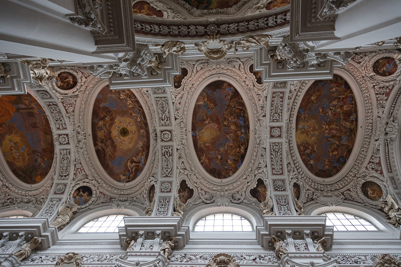 A view of part of the ceiling of St. Stephan's Cathedral in Passau.