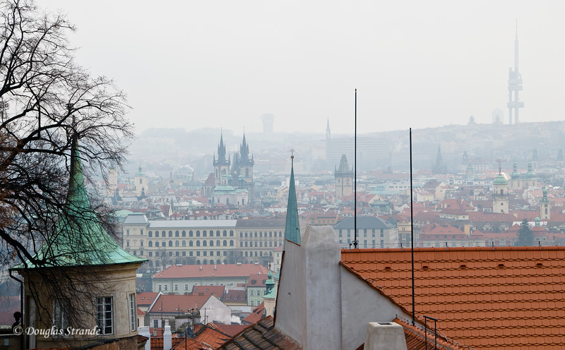 Prague overlook from the Castle