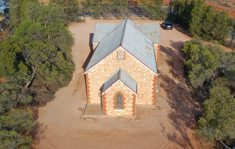 Drone over Renmark West Church for Centennary Celebrations