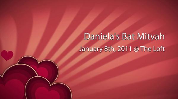 Daniela's Bat Mitzvah Montage