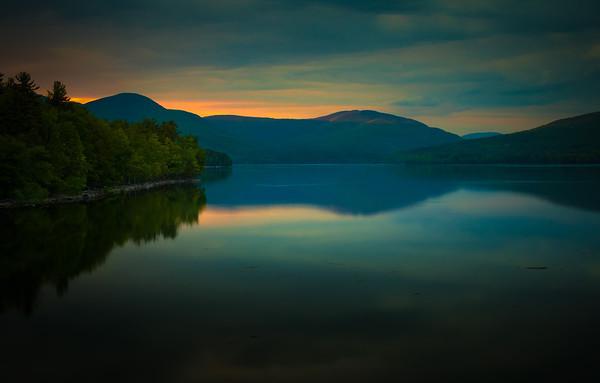 Last light touches the peak Ashokan Reservoir  May 22. 2016
