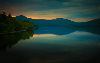 Last light touches the peak Ashokan Reservoir  May 22. 2016
