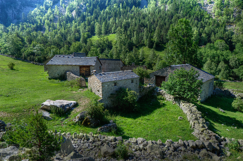 Lush greens surrounding the bordes in Andorra