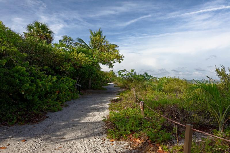 Gulf Front Walkway To Sanibel Lighthouse