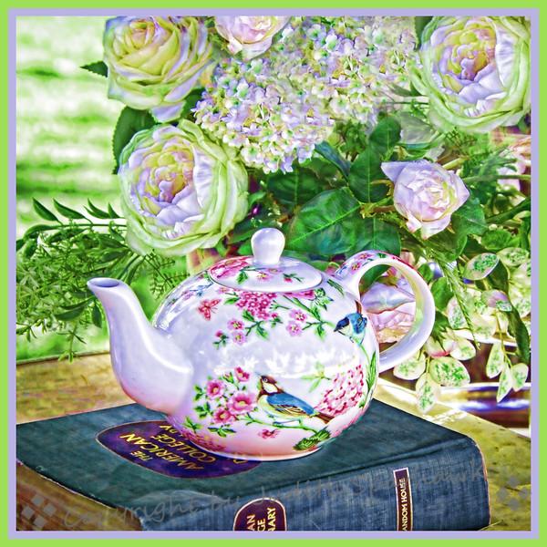 Tea Time in the Garden - Judith Sparhawk