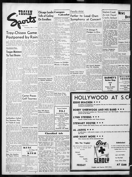 Daily Trojan, Vol. 38, No. 89, March 06, 1947