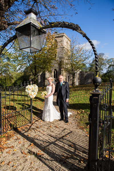 Bledlow church autumn wedding