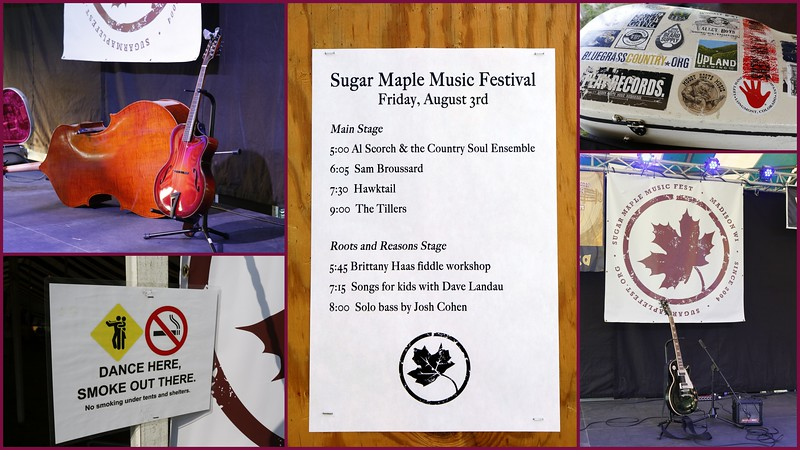 Friday, August 3rd line up for the Sugar Maple Music Festival