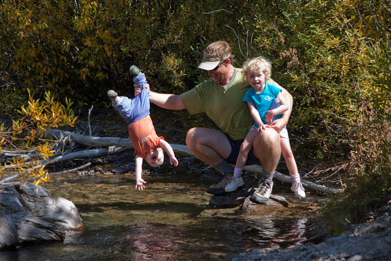Early indoctrination to hiking, water, and the outdoors.  Matt, Max, and Sarah.