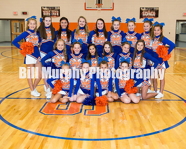 2017 - 2018 South Marshall Middle School Cheerleaders