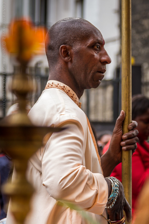 A man in the procession.