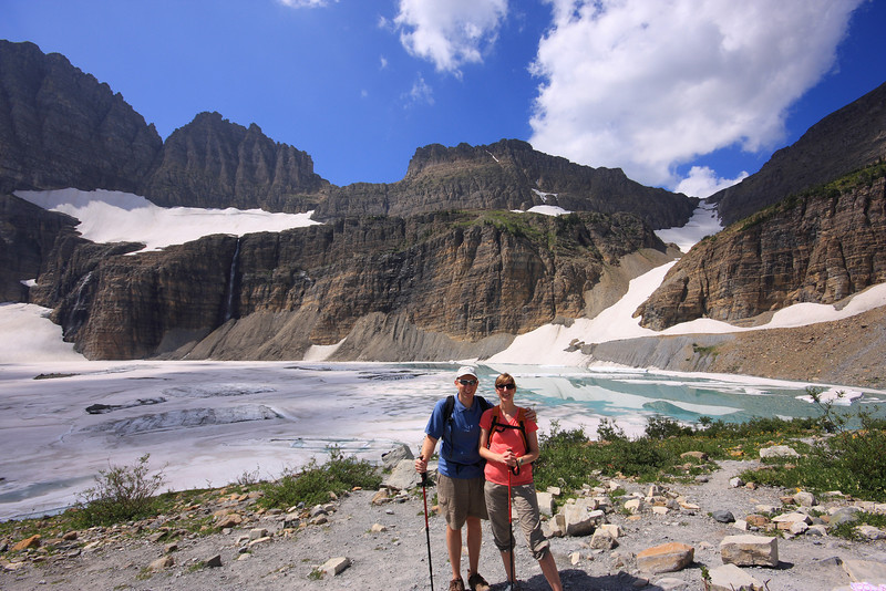 Grinnell Glacier, just behind us in the photo, is expected to be melted in less than 30 years.