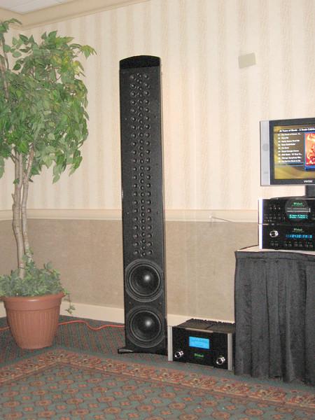 The McIntosh XRT1K line array. www.mcintoshlabs.com