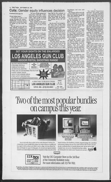 Daily Trojan, Vol. 123, No. 19, September 28, 1994