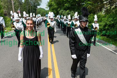 NMHS Band and Guard at Sherman Parade, May 27, 2012
