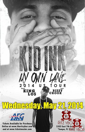 Kid Ink My Own Lane Tour