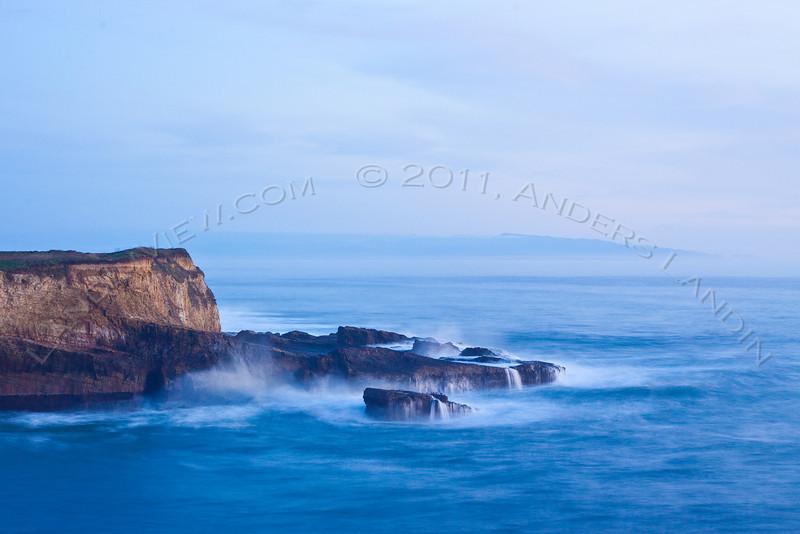 Monterey peninsula in haze