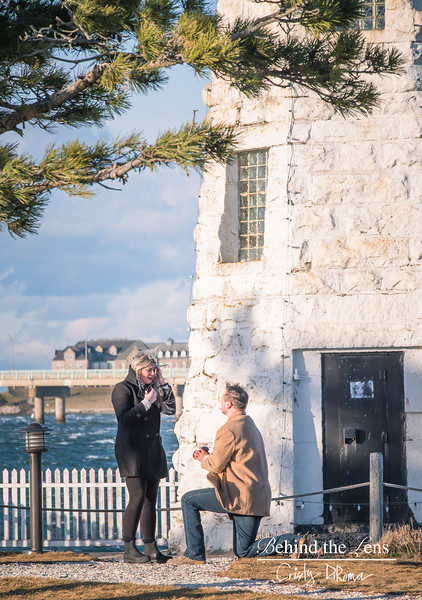 """ The Proposal "" Goat Island Newport RI"