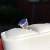 Vintage-Inspired and Contemporary 3.03ct Blue Sapphire Ring (GIA, No-Heat)) 18