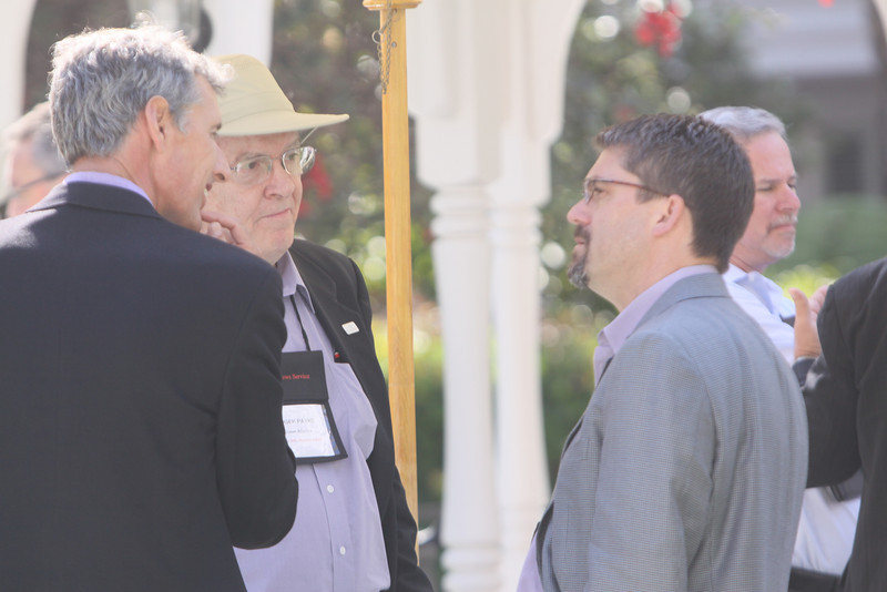 (L-R) Lew Douglas, Managing Director, Ocean Alliance; Roger Payne, Founder and President, Ocean Alliance; Michael Pfeffer, Managing Partner, Kolohala Ventures; and Chris DiGiorgio, Managing Director-California, Accenture