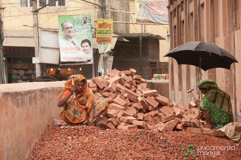 Breaking Bricks in Old Dhaka - Bangladesh