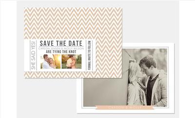 Custom Cards [save the date + wedding]