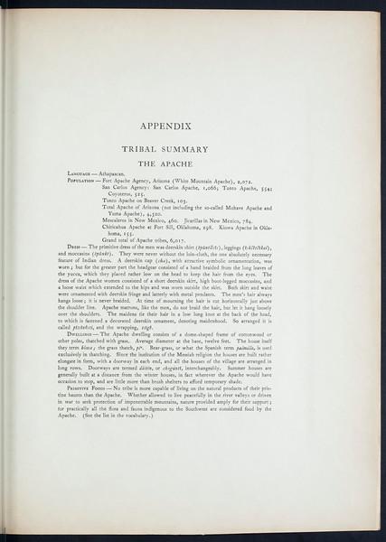 The Apache. The Jicarillas. The Navaho, 1907