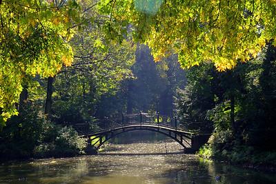 Palace with park Pszczyna autumn 2011