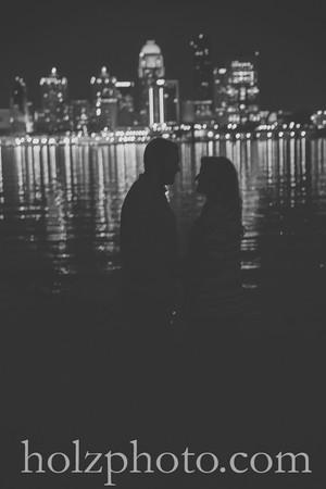 Jessica & Joey B/W Engagement Photos
