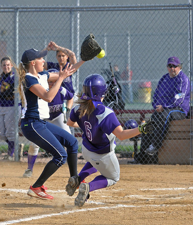 Lisle plays home softball at Benet