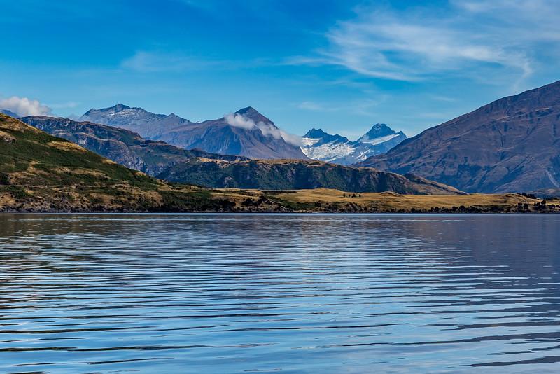 Blick von der «Glendhu Bay» Richtung «Mount Aspiring»