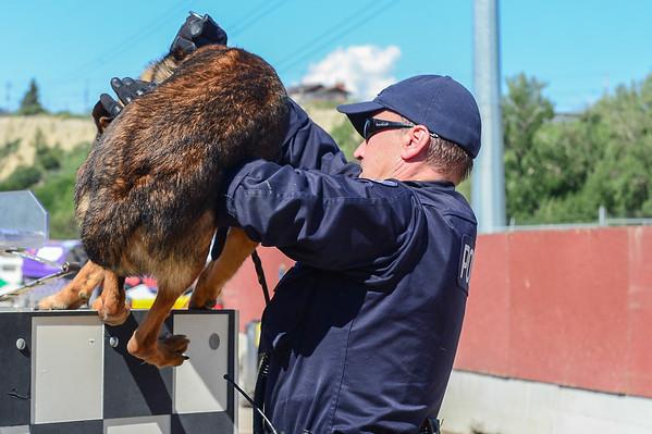 7 2013 July 11 Day 8 Jason Glass & Police Dog*