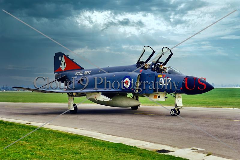 F-4-British 005 A taxing McDonnell Douglas FG.1 Phantom II British Royal Navy Sqd 892, XT872, 6-1969 Yeoviton, military airplane picture by Stephen W. D. Wolf     853_8050     Dt.JPG